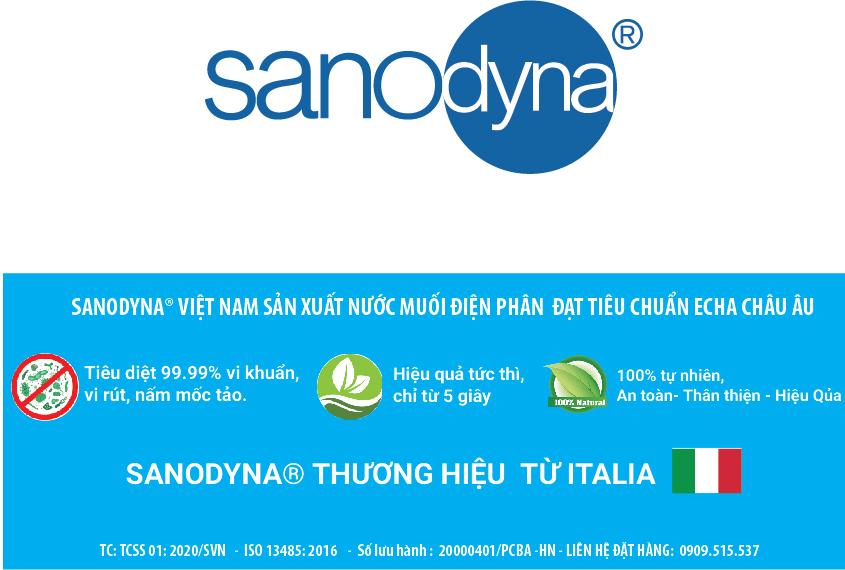 Sanodyna dùng trên Buồng khử khuẩn