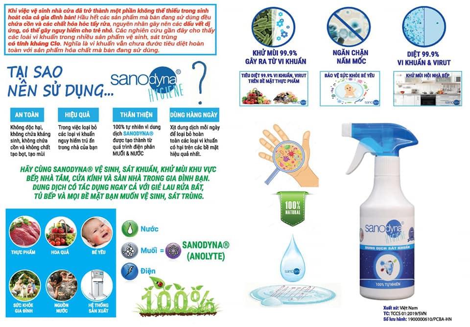 nước tiệt trùng Anolyte