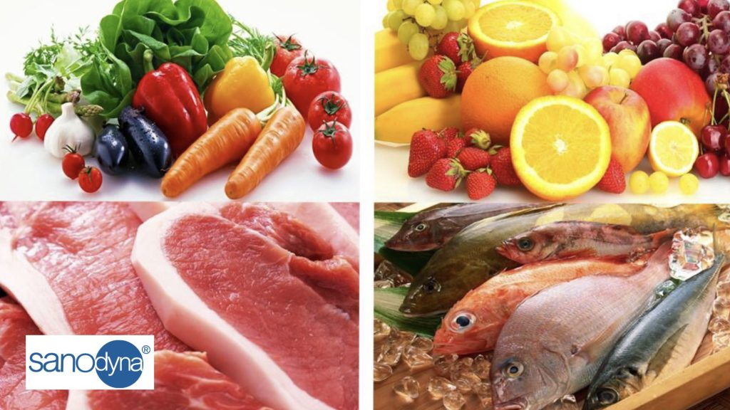 Sát khuẩn rau củ quả thịt cá