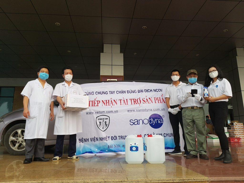 Sanodyna tài trợ bệnh viện nhiệt đới trung ương