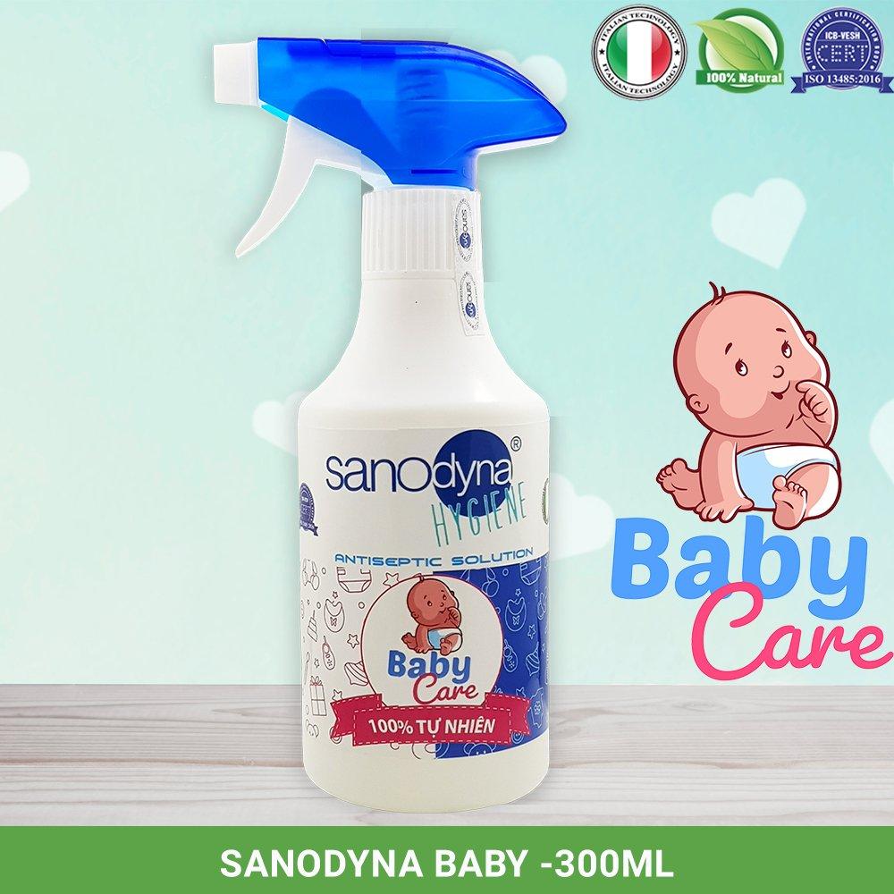 dung dịch sanodyna baby bảo vệ sức khỏe bé yêu