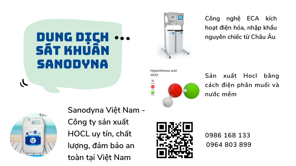 Dung dịch Sanodyna chứa axit Hocl